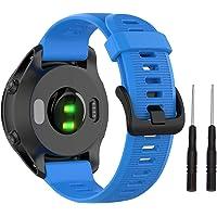 Isabake Band voor Garmin 945 22mm Soft Silicone and Waterproof Watch Strap voor Garmin Fenix 5/5 Plus, Instinct…