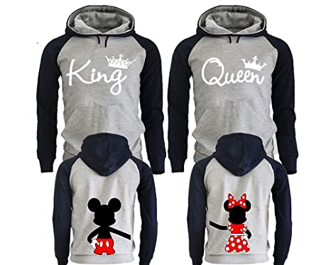 53f1190734 King and Queen Hoodies for Couples, Matching Couple Hoodies, His and Her  Hoodies Black