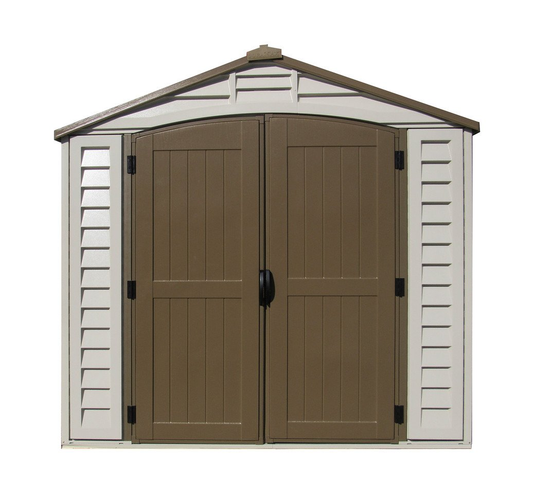 Amazon.com : Duramax 30114 Store All Vinyl Shed with Foundation, 8 ...
