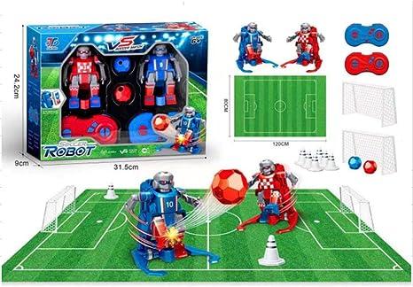 rosemaryrose Juego De Mesa Futbol Futbolin para Niños Robot Interactivo | Juguete Robots Teledirigidos Incluye Campo, Porterias, Mandos Y Conos Entrenamiento, Regalo Navidad Cumpleaños: Amazon.es: Hogar