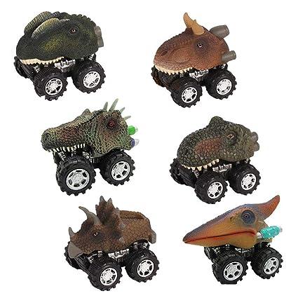 FOONEE Dinosaur Coches - Juego de Dinosaurios para niños (6 Unidades)