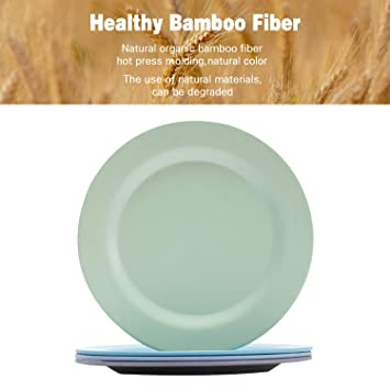 """4pcs Bamboo Kids Plates for Baby Feeding 8/""""x 8/""""x 1/"""" Eco-Friendly Tableware for Baby Toddler Kids Bamboo Toddler Dishes /& Dinnerware Sets Non Toxic /& Safe Toddler Plates"""