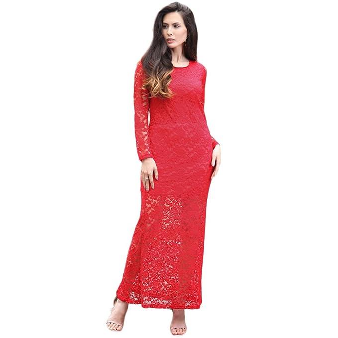 precio moderado último estilo mujer YOU&ME - Vestido - Noche - manga 3/4 - para mujer rojo rosso ...