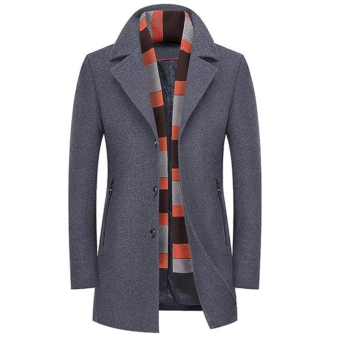 Cappotto Uomo ASHOP Lungo Cappotto Giacca Outwear Cappotti Invernale Slim  Fit Giacca Soprabito Elegante M-XXXL  Amazon.it  Abbigliamento 919f69d693a