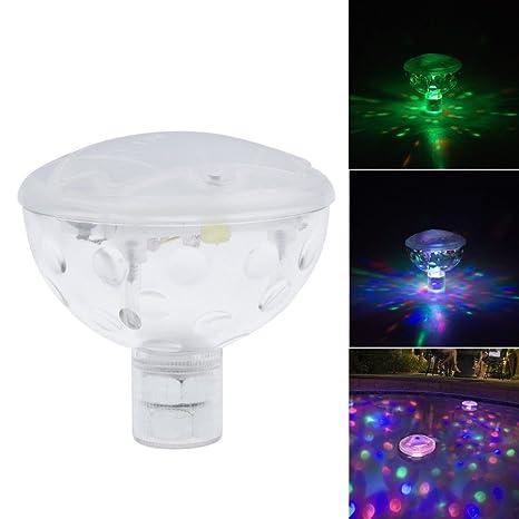 Bombillas LED sumergibles INHDBOX piscinas juego de luces patrones de costura para bañera juguete tipo bola