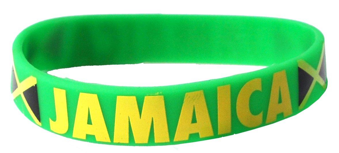Komonee Giamaica verde Coppa del Mondo Olimpiadi Silicone Polsino (Confezione da 100)