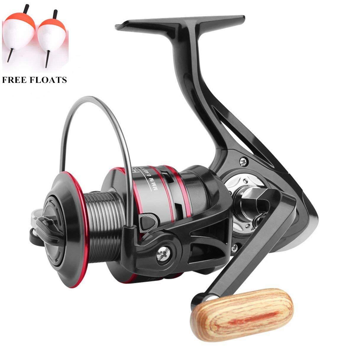 ECOOLBUY Moulinet de pêche pour pêche en haute mer et pêche côtière 12BB 5.2: 1 moulineten métal pour pêche à la carpe Series 100020003000400050006000 7000