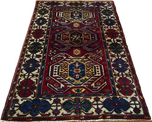 Vintage Handwoven Area Rug Carpet 7.04 x 4.94 ft.