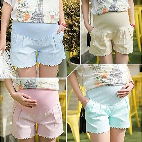 cura della pantaloncini donna Keephen Pantaloncini di stato attillati cintura per gravidanza di in maternit da 0UUtxI7q