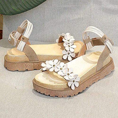 DALL Escarpins Ly-767 Confortable Et Élégant Chaussures Pour Femmes Open-toed Sandales Plates Talons Hauts Printemps Et Été 4 Cm De Haut (taille : EU 35/UK 3.5/CN 35) eDdmcvF