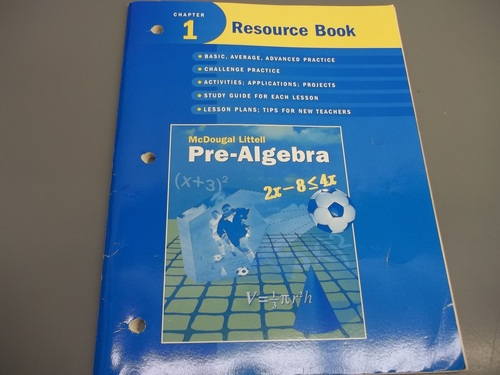 Download McDougal Littell Pre-Algebra: Resource Book Chapter 1 pdf