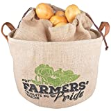 Fallen Fruits Hessian Potato Drawstring Storage Bag