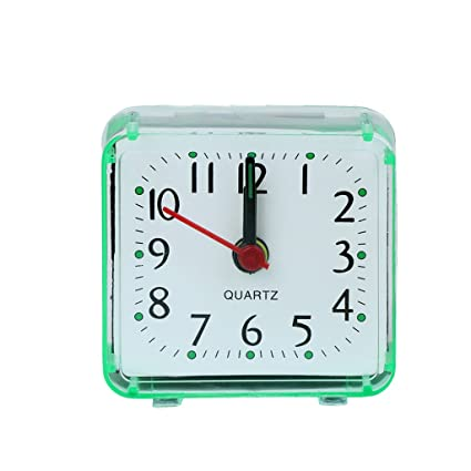 Beep Alarm Clock Trip Portable Desk Table Travel Plastic Mini Square