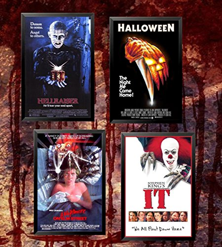 buyartforless FRAMED Ultimate Horror Movie Poster Set of 4 3