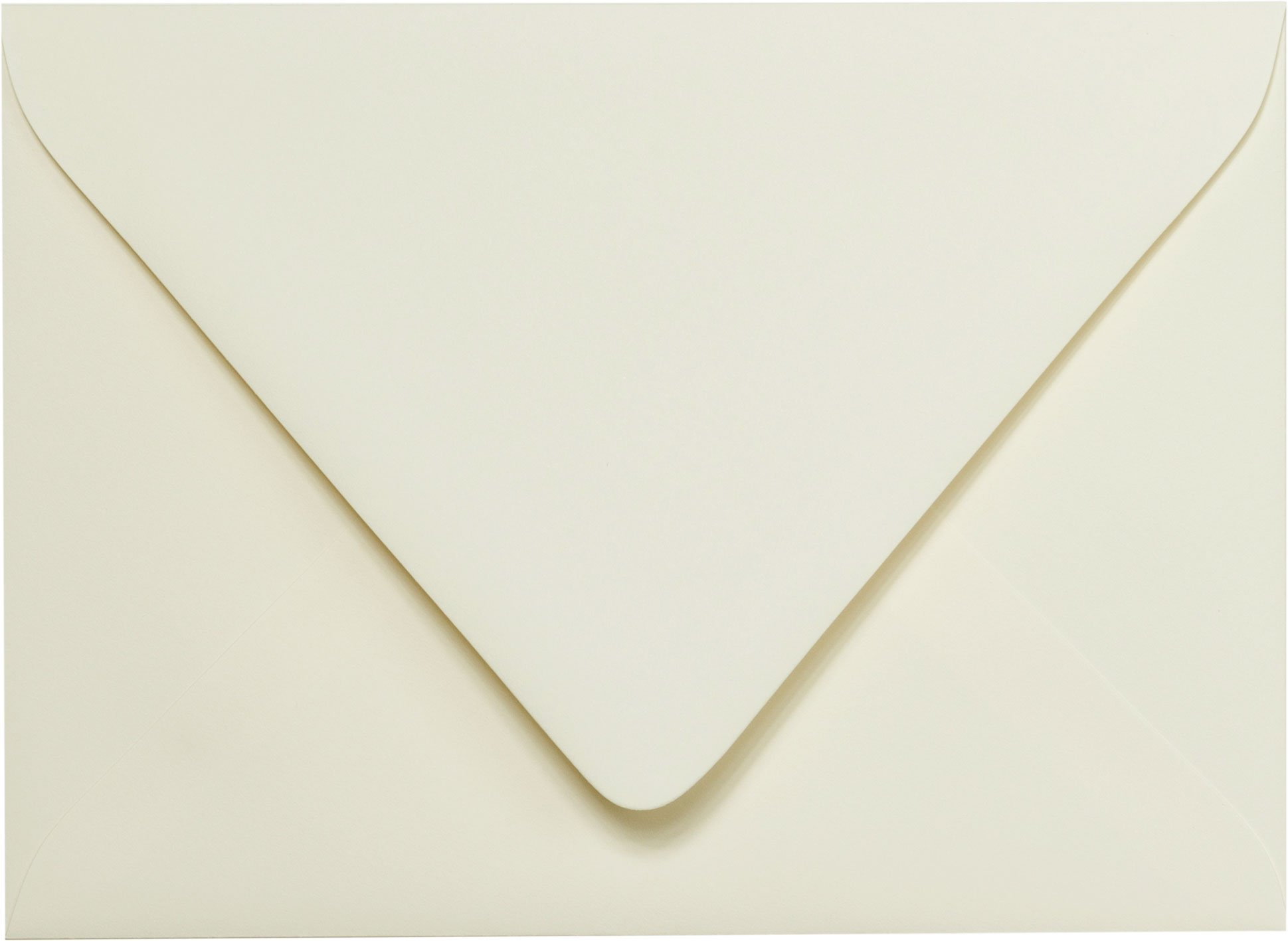 A-2 Classic Natural Cream Solid Euro Flap RSVP Envelopes (4 3/8'' x 5 3/4'') - 50 Envelopes from Paper and More
