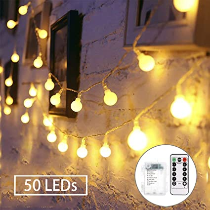 release date: 33045 29c28 GREEMPIRE 18ft 50 LED String Lights Dimmable with Remote Control Battery  Powered Fairy Lights for Bedroom Patio Garden Wedding Party(Warm White, 8  ...