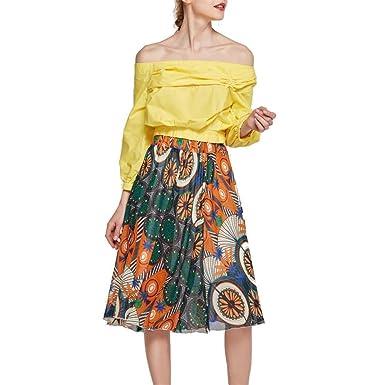 FELZ Falda Mujer Falda Mujer Fiesta Falda de Moda para Mujer Arco ...