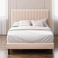 Zinus Debi Double Upholstered Fabric Platform Bed Frame Base Mattress | Tall Headboard | Wooden Slat Support Steel Frame…
