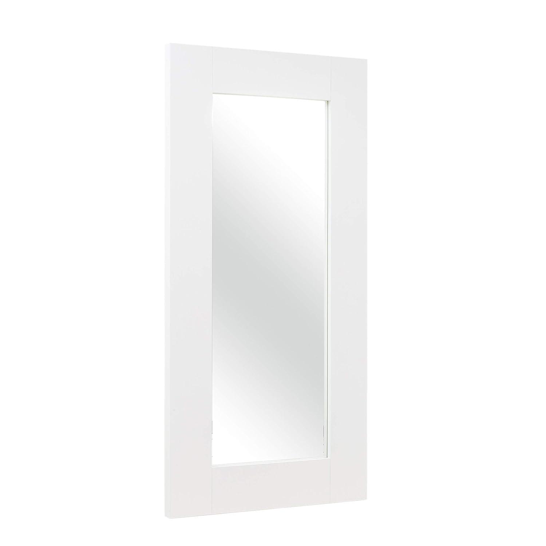 Specchio da Terra con Struttura in Legno Laccato Bianco Italian Concept Dem Unica
