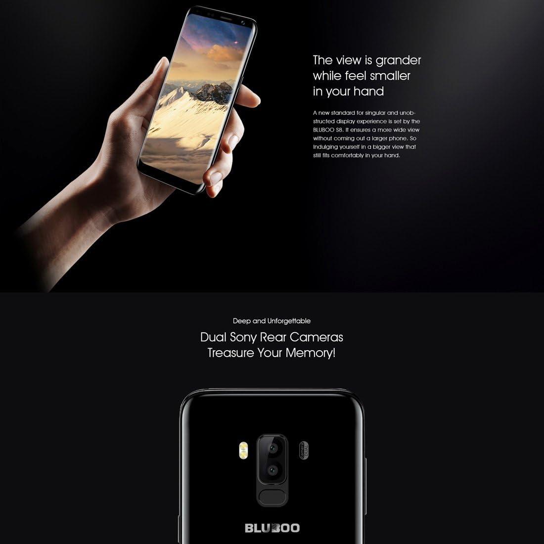 BLUBOO S8 Desbloqueado Smartphone 3 GB + 32GB Dual cámaras Trasera ...