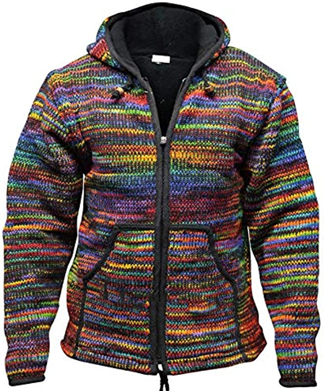 N/F Męskie Kapuze Wolle Cardigan Sweater Pullover Męskie Wintermode Patchwork Strickjacke mit Taschenpullover: Küche & Haushalt