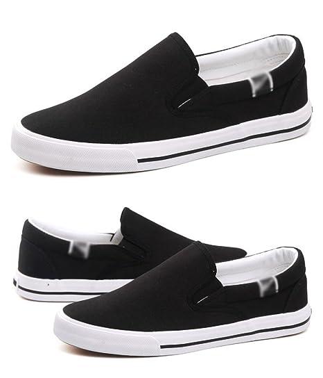 WFL Scarpe da uomo nere di tela da uomo scarpe da uomo scarpe di stoffa  pedali 186342a52f5