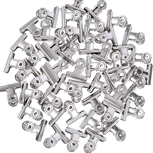 - Blulu 1.25 Inch Metal Hinge Clips, Chip Clips Bag Clips Hinge Clamp File Binder Clips for Home Office Supplies, 50 Pack (Silver)