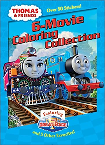 Thomas & Friends 6-Movie Coloring Collection Jumbo Coloring Book ...