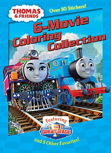 Thomas & Friends 6-Movie Coloring Collection (Jumbo Coloring Book: Thomas & Friends) [Idioma Inglés] por Golden Books,Jim Durk