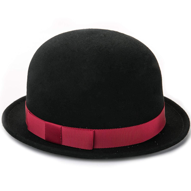 Fashion Female Cap Wool Made Lvjuzhuangshiame Women Dome Top Hat Color : Black, Size : M for Autumn /& Winter
