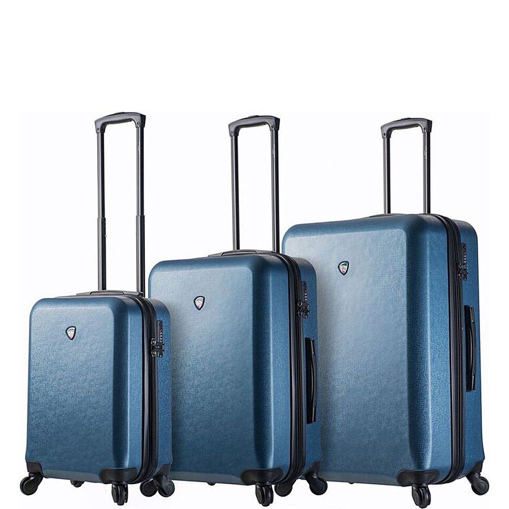 Mia Toro Mens Italy Sacco Hardside Spinner Luggage 3pc Set-Blue