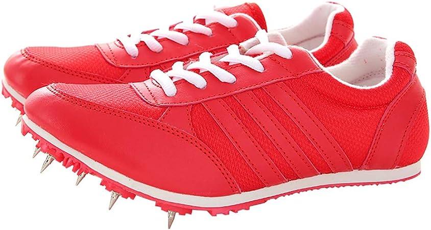 YPPDSD Pistas de Atletismo, Zapatillas de Running Medianas y Cortas para Hombres y Mujeres Competencia de Atletismo al Aire Libre Zapatillas Deportivas Profesionales para uñas,Rojo,44: Amazon.es: Hogar