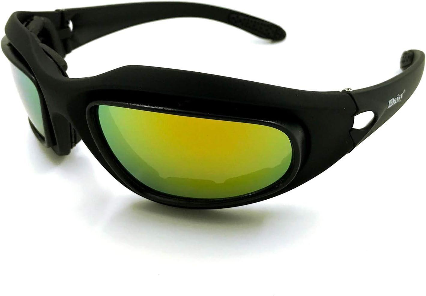 Casco de motocicleta H.Y.B.Ciclismo gafas de sol polarizadas Gafas de CS táctico de protección Gafas de visión nocturna Tormenta de arena de deportes for hombres y mujeres Deportes bluetooth casco de