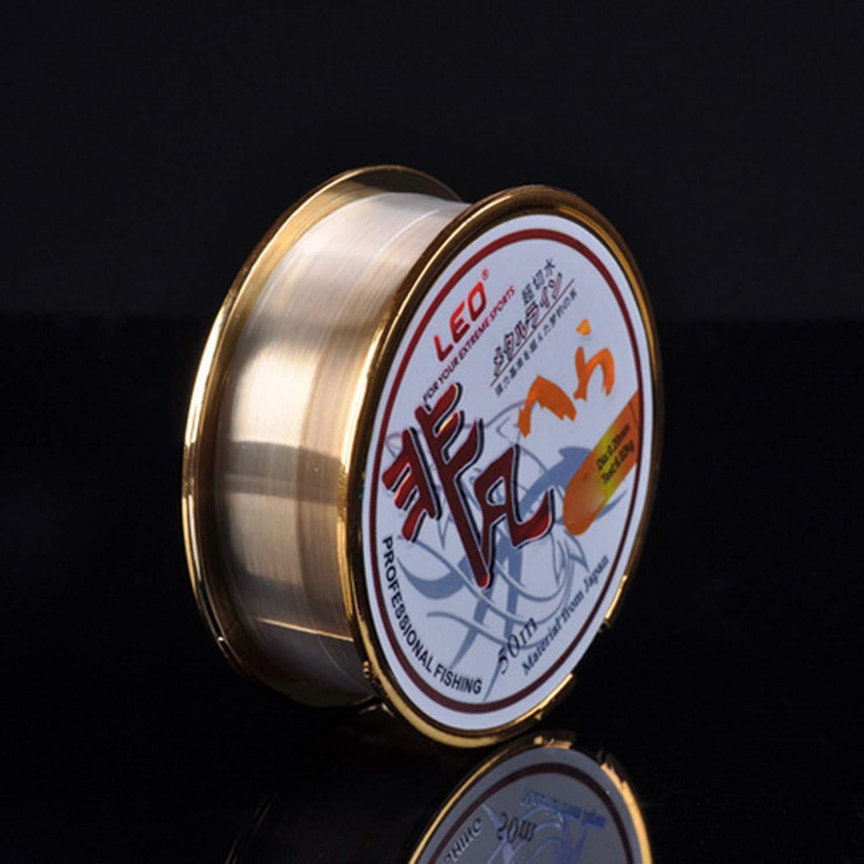 FairytaleMM Leo High Carbon Angelschnur 50m Boxed Fluorocarbon Angelschnur Hochwertige Angelschnur