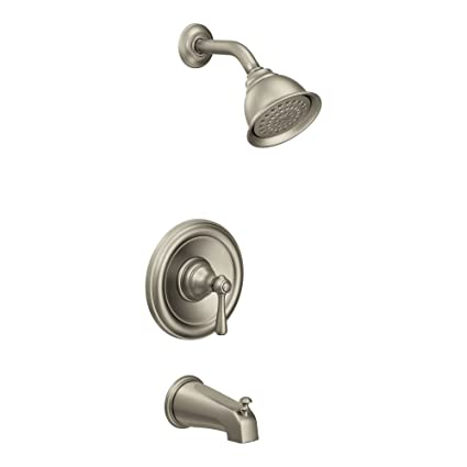 Moen Brushed Nickel Shower Faucet.Moen T2113epbn Kingsley Posi Temp Tub And Shower Trim Kit Valve Required Brushed Nickel