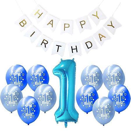 Happy Birthday - Bandeja para globos de cumpleaños, 1 año ...