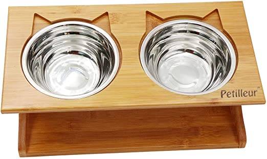 Petilleur Cuenco Elevado para Gatos Perros Comedero Gato Perro ...