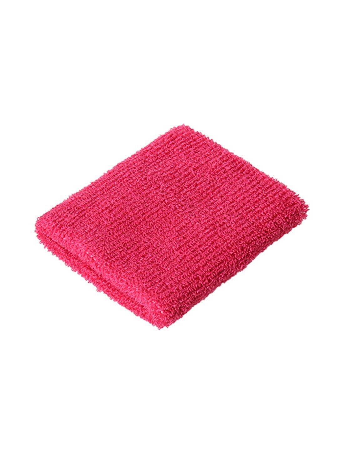 Amazon.com : eDealMax Atlética de algodón Tela de toalla gruesa Protector de la muñeca Banda de sudor DE 10 paquetes Fucsia : Sports & Outdoors