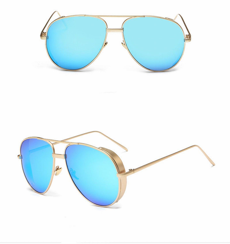 XD-Réfléchissant de couleur autour des lunettes de soleil femme , 2#