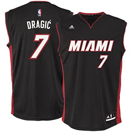 Image Unavailable. Image not available for. Color  adidas Goran Dragic  Miami Heat NBA Men s Black Official Away Replica ... 2056493c1