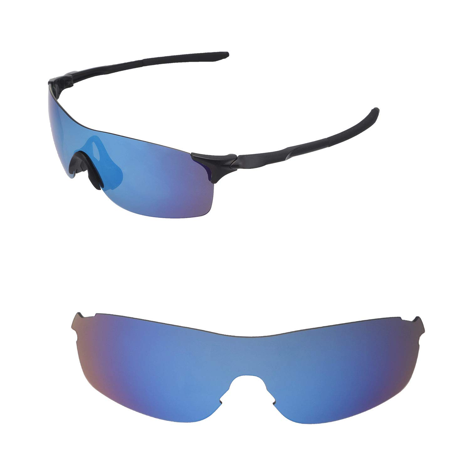 1a2dd2b7597 Amazon.com  Walleva Replacement Lenses for Oakley EVZero Pitch Sunglasses -  Multiple Options Available (Black - Polarized)  Clothing