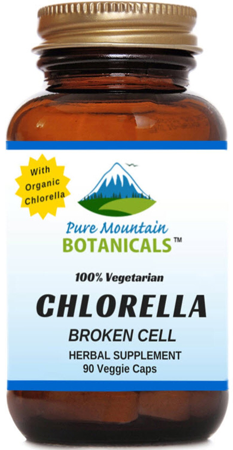 Broken Cell Chlorella Capsules. 90 Kosher Veggie Caps. Now with 500mg Organic Chlorella Vulgaris Powder
