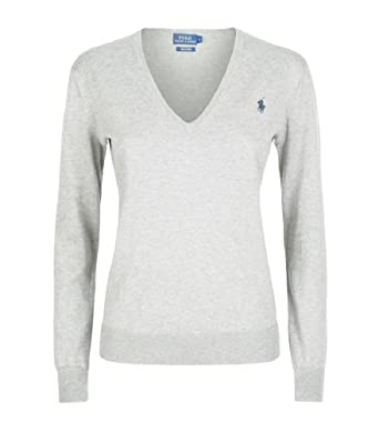 innovative design 0bcba 049f0 Ralph Lauren Polo Damen Pullover Eloise Pima Cotton Hellgrau ...