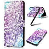 iPhone 8 Plus Case,iPhone 7 Plus Case,iPhone 8 Plus Wallet Stand Case,iPhone 7 Plus Wallet Stand Case,SKYMARS Gloss Skin 3D Creative Design Book Style PU Leather Flip Kickstand Cards Slot Wallet Magnet Protective Stand Case for iPhone 7 Plus (2016) / iPhone 8 Plus (2017) Grow Purple
