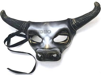 Oro blanco máscara de vaca Bull Animal Masquerade máscara de Halloween disfraz Cosplay fiesta