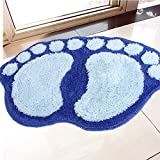 2013newestseller Big Feet Fuzzy Cushion Mat Pad Bedroom Decoration Indoor Rug Non-slip Bath Area Rug Pad (Blue)