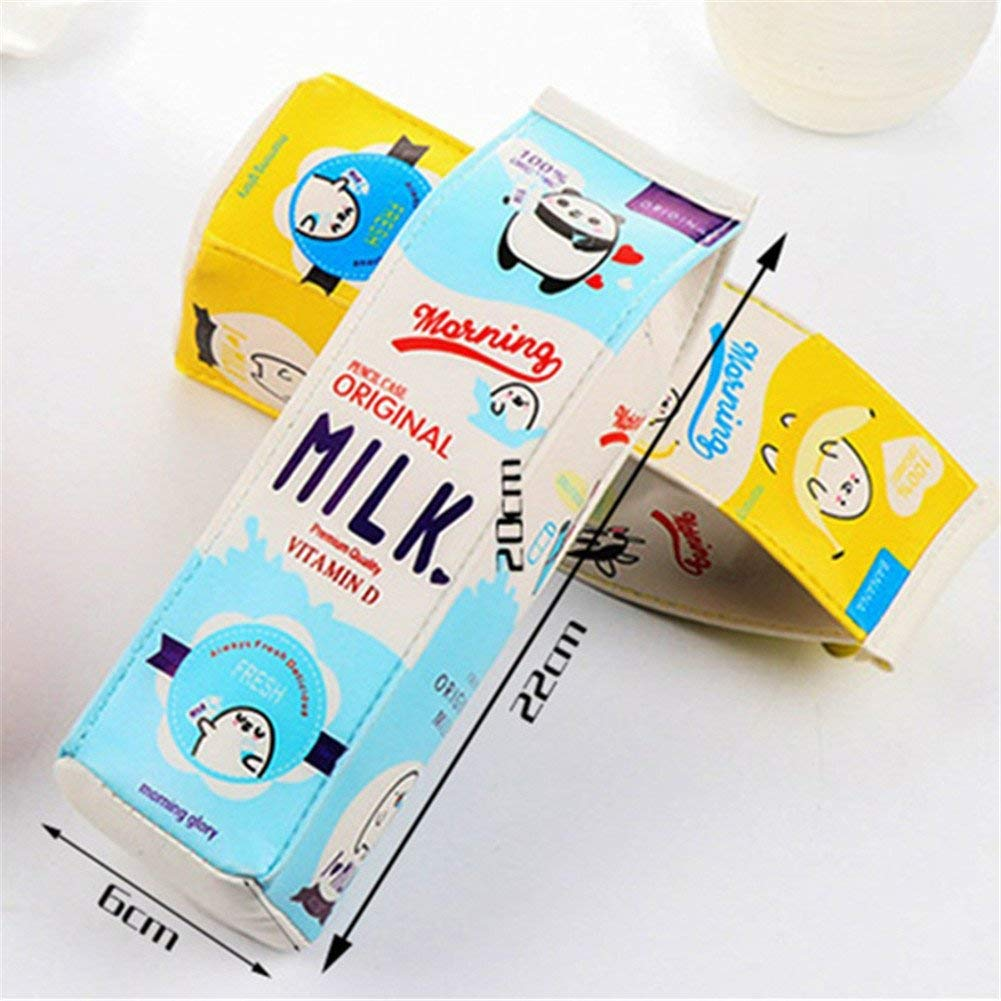 YUWELL PU Milk Pencil Case Milk Carton Design Cute Pencil ...