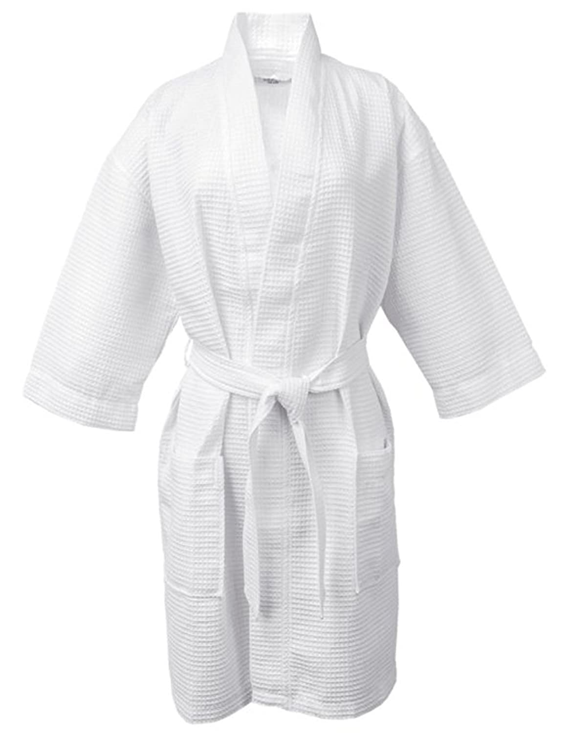 5899e3798d Luxehome cotton waffle bathrobe luxury weave waffle soft spa robes for  women and men jpg 1162x1500