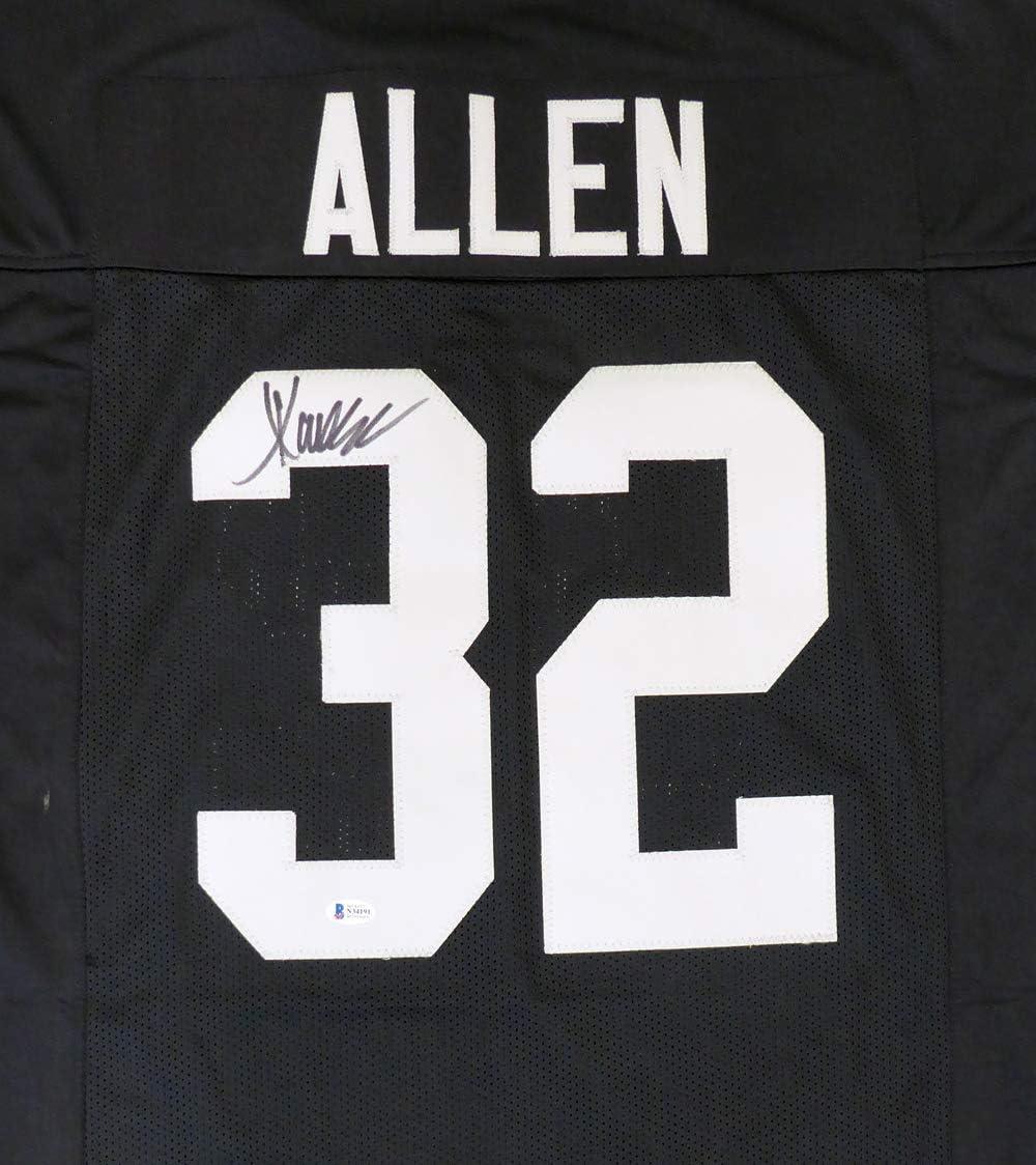 Oakland Raiders Marcus Allen Autographed Black Jersey Beckett BAS ...
