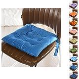 Cuscino Sedia,Worsendy Cuscini per giardino,Adatto per interni ed esterni,40x40x6cm,disponibile in tanti colori diversi,Cuscini per sedie da giardino,copri sedia cucina (blu)